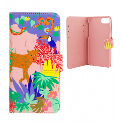 Coque à clapet pour iPhone 6, 6S, 7 - Iwallet 2 Jungle