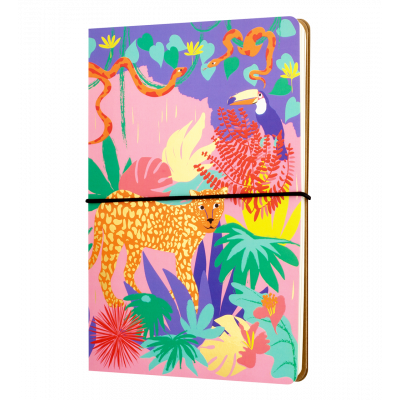 Double carnet A5 - Smart note Jungle