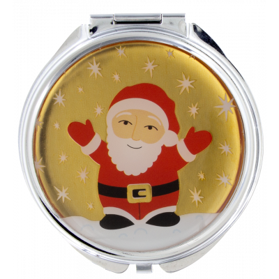 Pocket mirror - Lady Look Santa