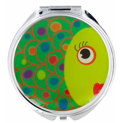 Pocket mirror - Lady Look Fish