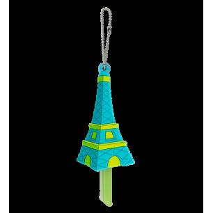 Protège clés - Ani-cover Tour Eiffel Bleue