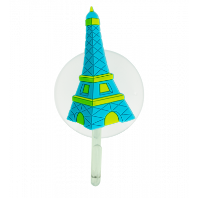 Crochet ventouse - Ani-holder Tour Eiffel Bleue