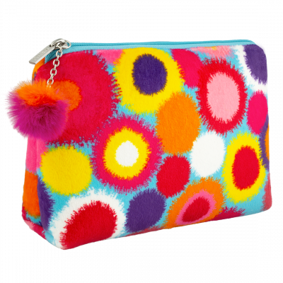Make-up-Beutel - Velvet Pouch Pompon