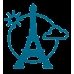 Magnetic Eiffel- Dessous de plat Bleu