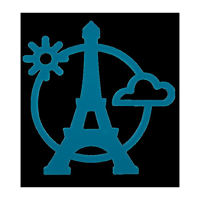 Magnetic Eiffel - Topfuntersetzer Blau - Pylones