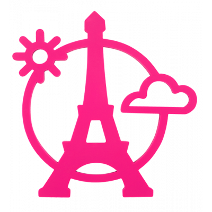 Trivet - Magnetic Eiffel Pink