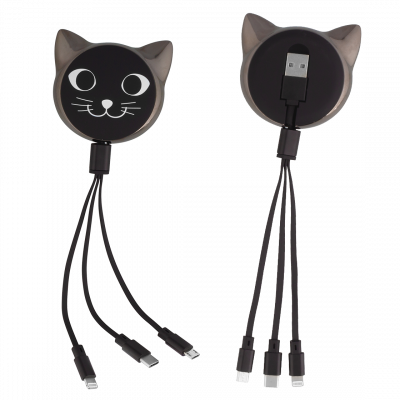 Cable 3 in 1  - Connectech Black Cat