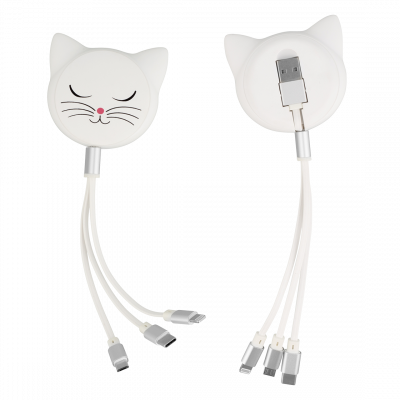 Cable 3 in 1  - Connectech White Cat