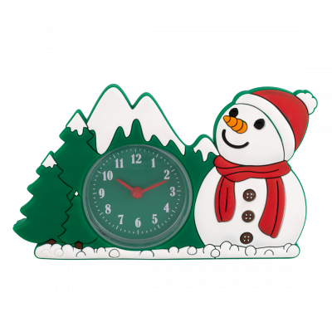 Réveil - Funny Clock Snowman