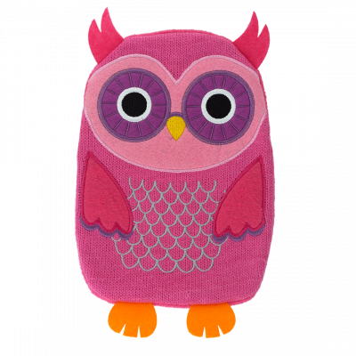 Hot water bottle - Hotly Pink Owl