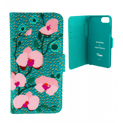 Flap cover/wallet case for iPhone 6, 6S, 7 - Iwallet 2 Orchid Blue