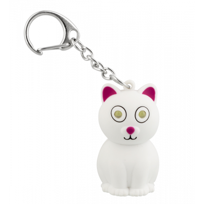 LED keyring - Keyled White cat