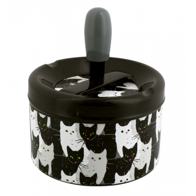 Push-button ashtray - Pousse Pousse Cha Cha Cha