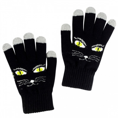 Tactile gloves - Touch Gloves Black Cat