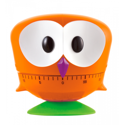 Minut'hibou - Kitchen timer Orange