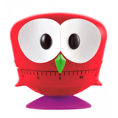 Minut'hibou - Kitchen timer Red