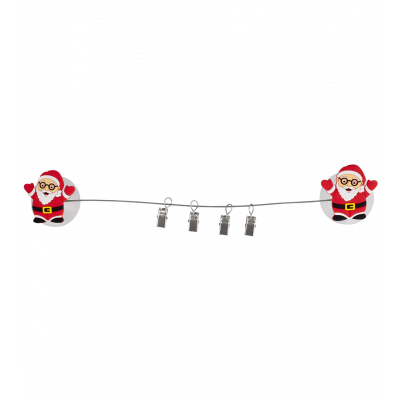 4 suction cup clips - Ani-clip Santa