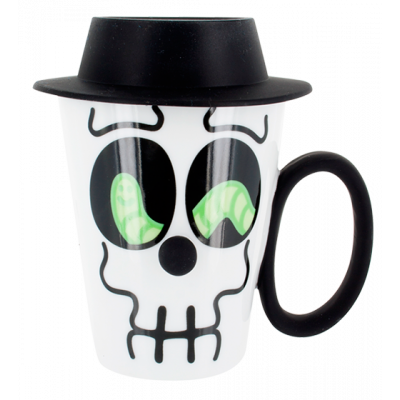 Face Mug - Cup and lid Black
