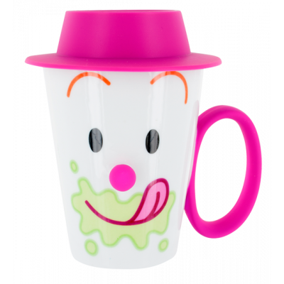 Face Mug - Cup and lid Pink