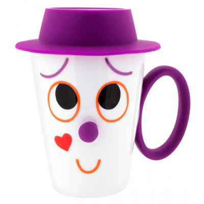 Face Mug - Cup and lid Purple