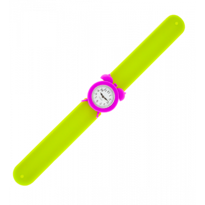 Slap alarm clock watch - My Time Green / Purple
