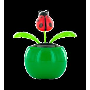 Solarfigur - Dancing Flowers Marienkäfer grün