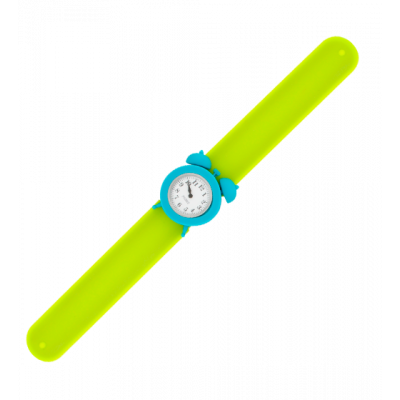 Slap alarm clock watch - My Time Green / Turquoise