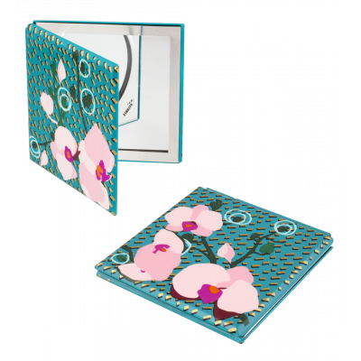 Pocket mirror - Mimi Orchid Blue