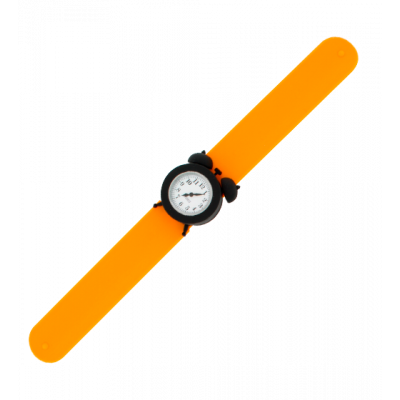 My Time - Montre slap réveil Orange / Noir