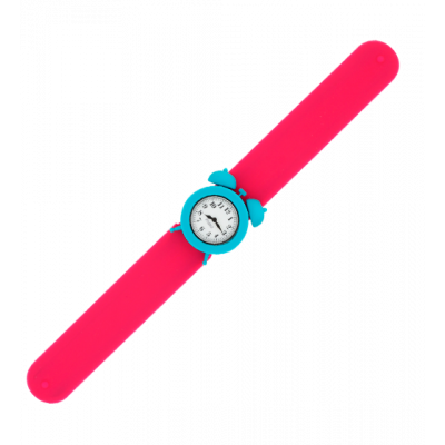 Slap alarm clock watch - My Time Pink / Turquoise
