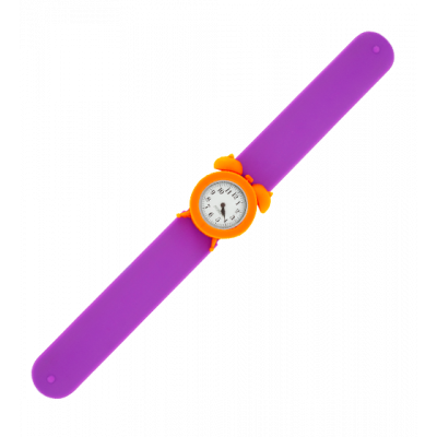 Montre slap réveil - My Time Violet / Orange