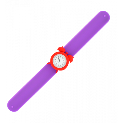My Time - Montre slap réveil Violet / Rouge