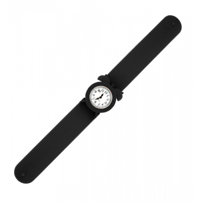 My Time 2 - Slap alarm clock watch Black