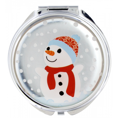 Pocket mirror - Lady Look Snowman