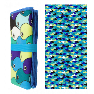 Microfibre towel - Body DS Blue fish