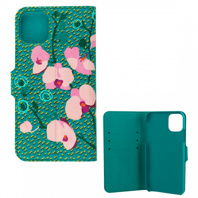 Flap cover/wallet case for iPhone 11- I Wallet 11 Orchid Blue