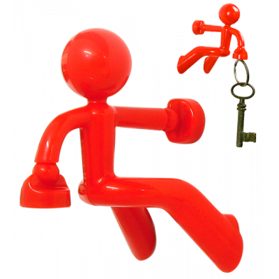Peter - Keyring Red