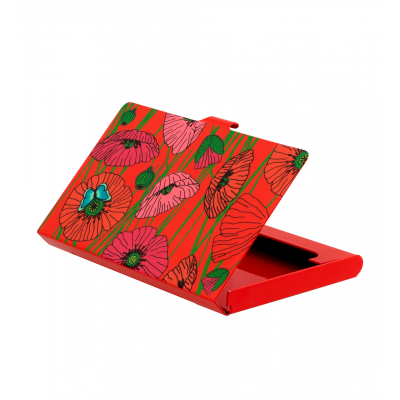 Business card holder - Busy Coquelicots