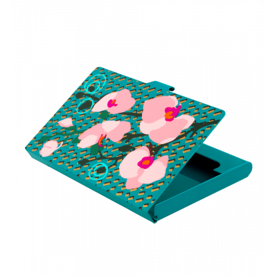 Business card holder - Busy Orchid Blue