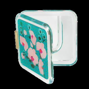 Square mirror - Clap Orchid Blue