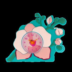 Réveil - Funny Clock Orchid Blue
