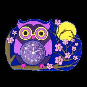 Alarm clock - Funny Clock Blue Owl