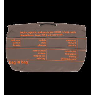 Handbag case - Pochette XL Beige / Orange