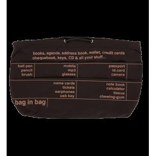 Pochette XL - Pochette de sac à main Marron / Noir