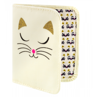 Card holder - Voyage White Cat