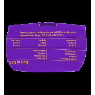 Taschenorganizer - Pochette XL Violett / Gelb