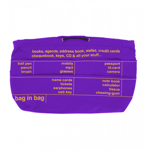 Handbag case - Pochette XL Purple / Yellow