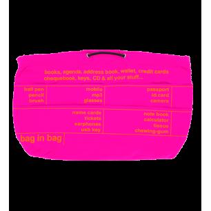 Taschenorganizer - Pochette XL Rosa / Orange