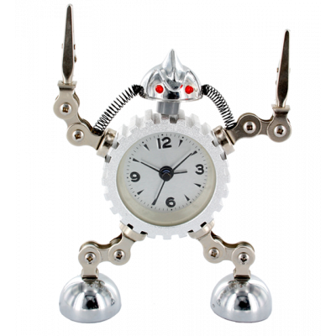 Alarm clock - Robot Timer Silver