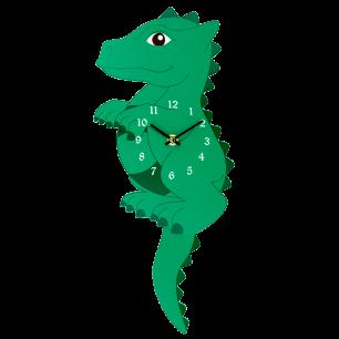 Uhr - Dancing Clock Dragon Vert